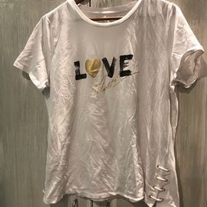 Michael by Michael Kors White Love T Shirt XL